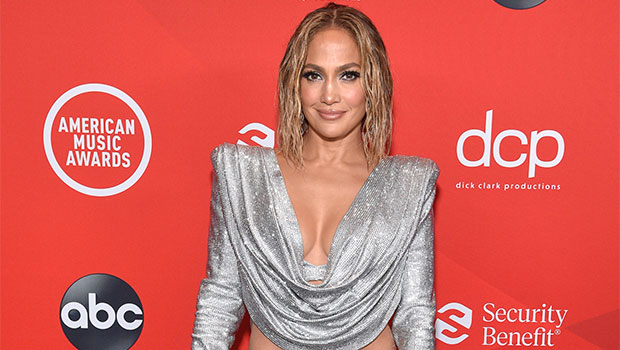 Jennifer Lopez Looks Radiant In Silver, High-Slit Skirt Ahead Of 'Steamy' AMAs Performance