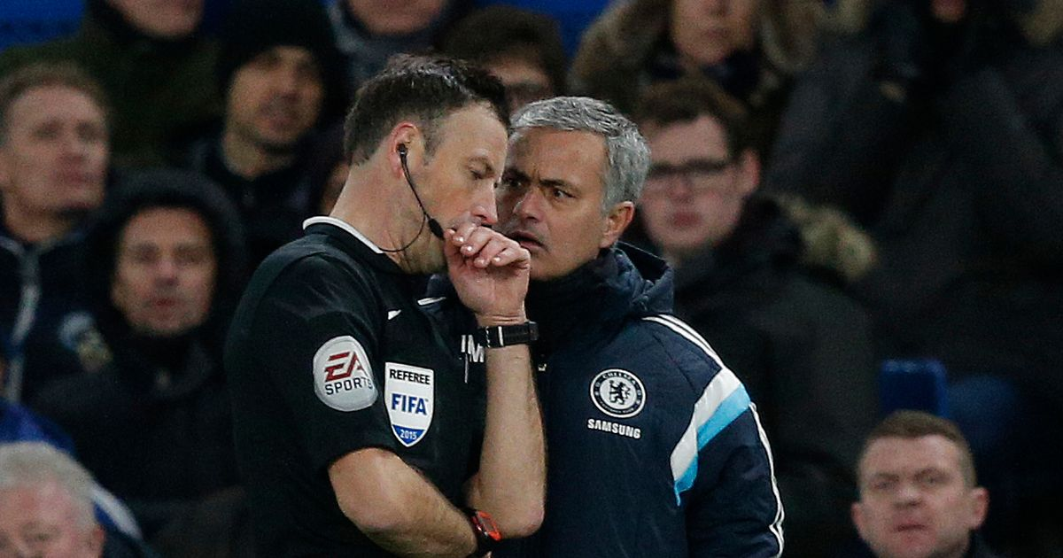 "Jose Mourinho ""blames"" Mark Clattenburg for Chelsea sack according to ex-referee"