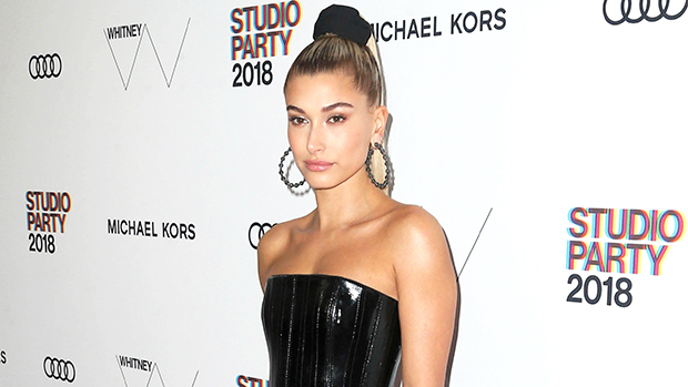 Hailey Baldwin Rocks Sexy Black Dress With Thigh-High Slit In Hot 24th Birthday Pics With Justin Bieber