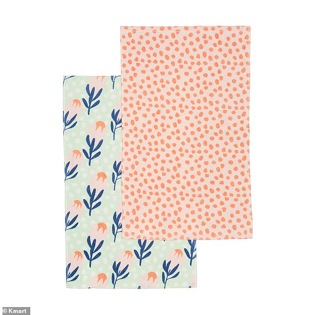 The offending articles? One woman hit back saying Kmart towels (pictured) are an 'awesome' gift and perfectly fine if that's all her friend could afford