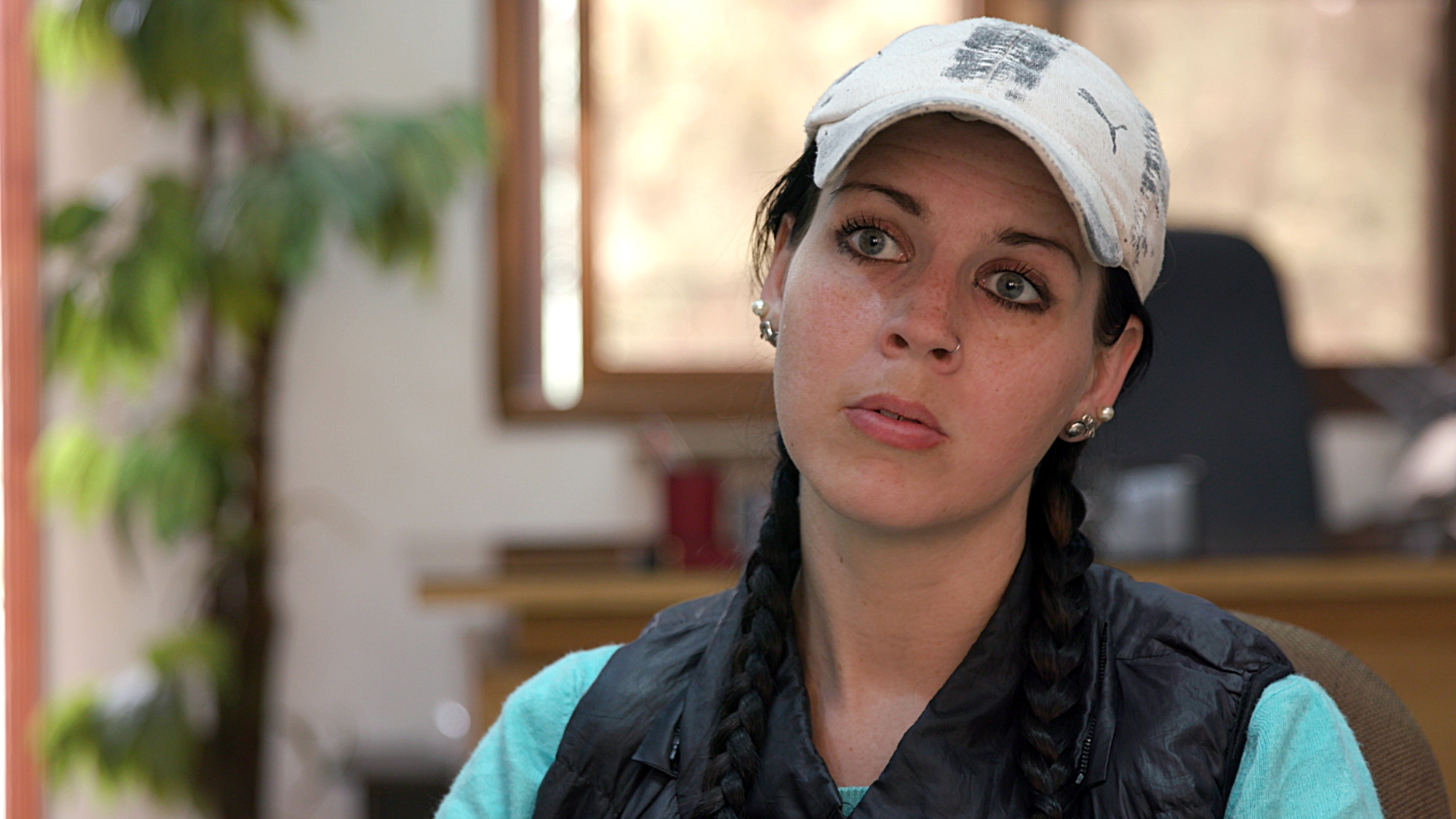 Samantha Sally in a detention camp in Syria