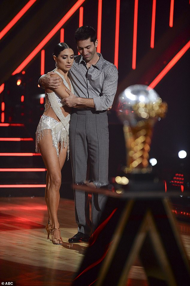 Second place: Nev Schulman and Jenna Johnson finished in second place