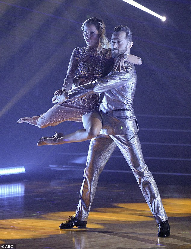Tango time:Kaitlyn and Artem got the finale started with a reprise of their Week 9 Argentine tango to Britney Spears' Toxic, once again earning 30 points for it