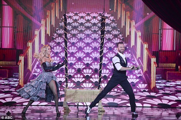 Paying tribute: The Bachelorette star's subsequent dance with Artem was a saucy freestyle to the song Sparkling Diamonds, from the 2001 film Moulin Rouge