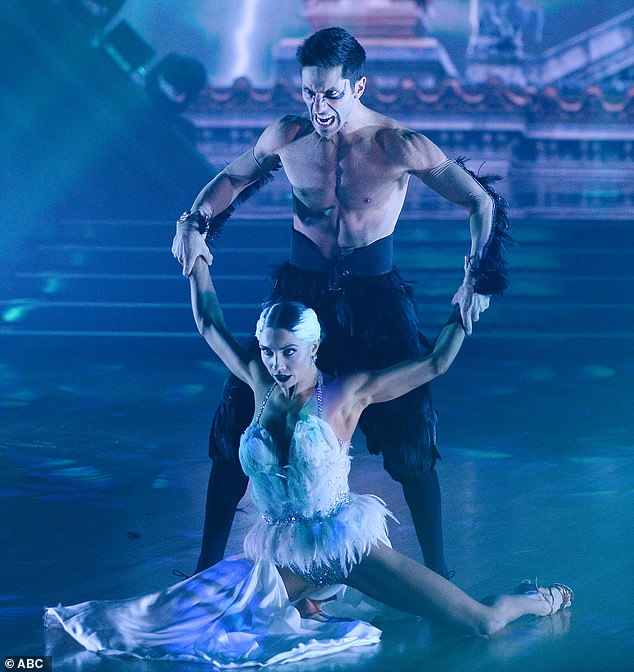 Paso doble:Nev and Jenna Johnson, 26, reminded the judges how much they loved their Week 7 paso doble to Swan Lake, and nabbed their second perfect score for it