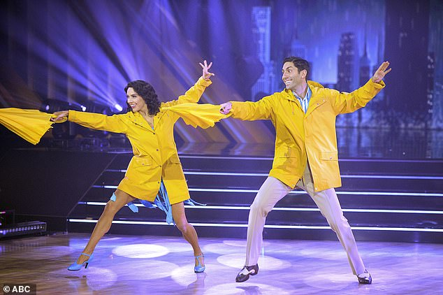 Hollywood classic:The duo's freestyle to the 1952 musical Singin' In The Rain had a sweet Hollywood magic