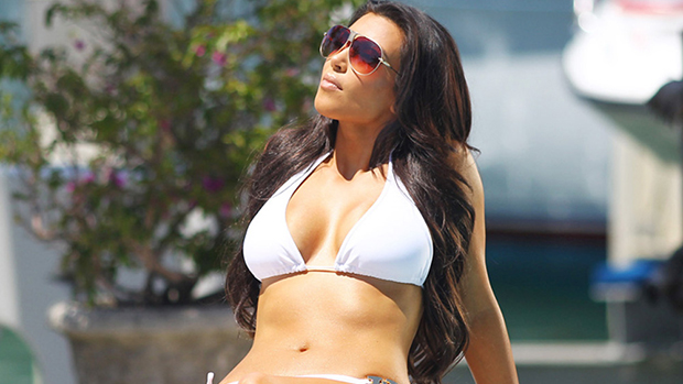 Kim Kardashian Rocks Tiny White Bikini While 'Reflecting' Inside Her Massive Walk-In Closet