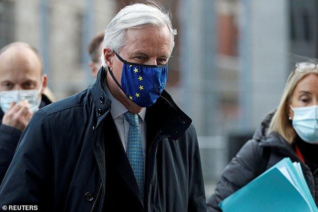 The EU's chief negotiator Michel Barnier is due to conduct face-to-face meetings in London this week if he tests negative for coronavirus after a member of his team tested positive [File photo]