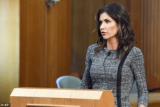 South Dakota is one of the nation's worst coronavirus hot spots, but the state's Gov. Kristi Noem (above) has routinely played down the severity of the virus and has refused to put a mask mandate or any substantial lockdown measures in place