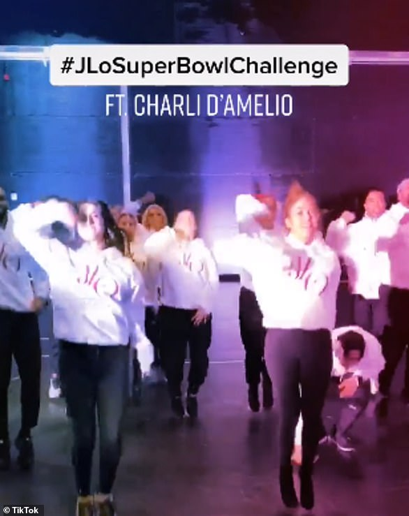 Famous face: Earlier this year, Charli joined Jennifer Lopsz to film a dance video for the singer's #SuperBowlChallenge