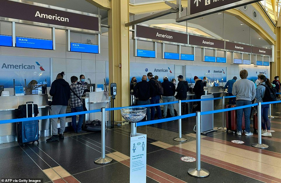 WASHINGTON DC: Travelers check in at Washington National Airport on Tuesday, two days ahead of Thanksgiving Day