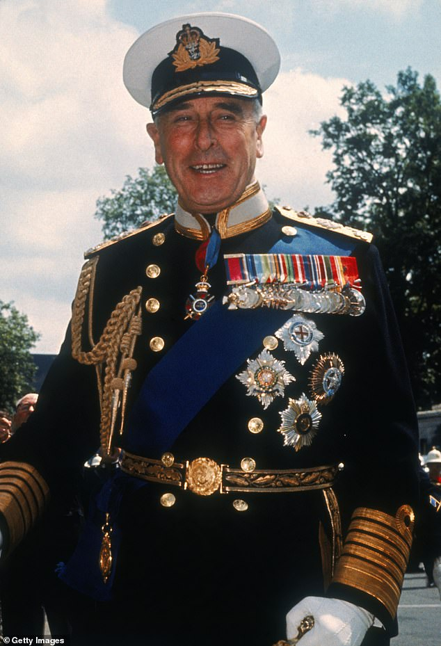 It is believed that he became interested in UFOs and creatures from outer space because of his uncle Lord Mountbatten (pictured in 1965) - who wrote an official report about a flying saucer landing on his estate, spotted by his bricklayer