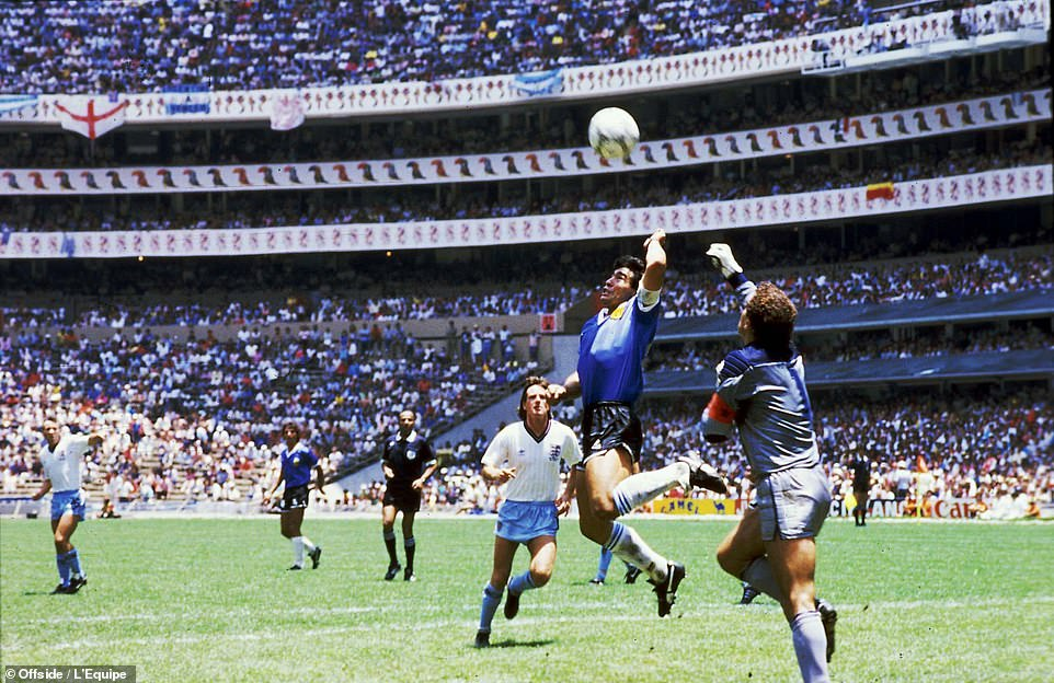 Maradona's Hand of God was responsible for England's elimination from the 1986 World Cup