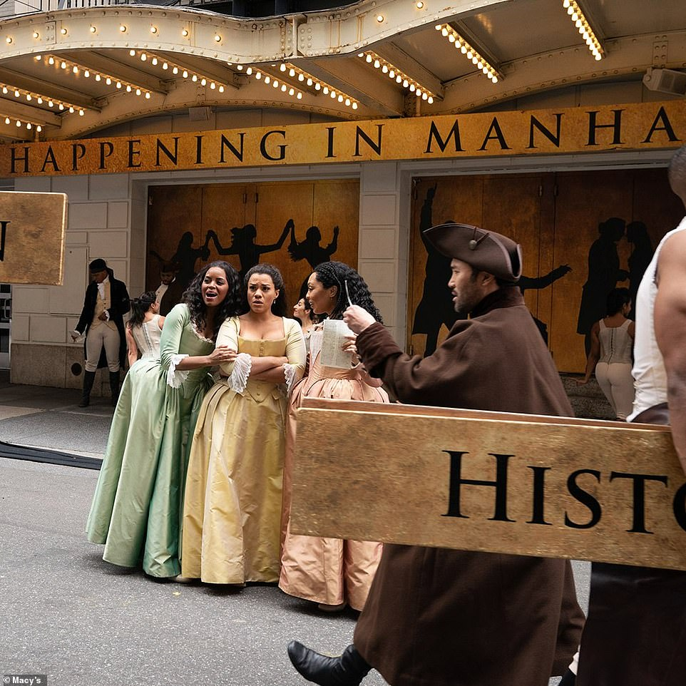 That cast of Hamilton performing at the 2020 Macy's Thanksgiving Day Parade on Thursday