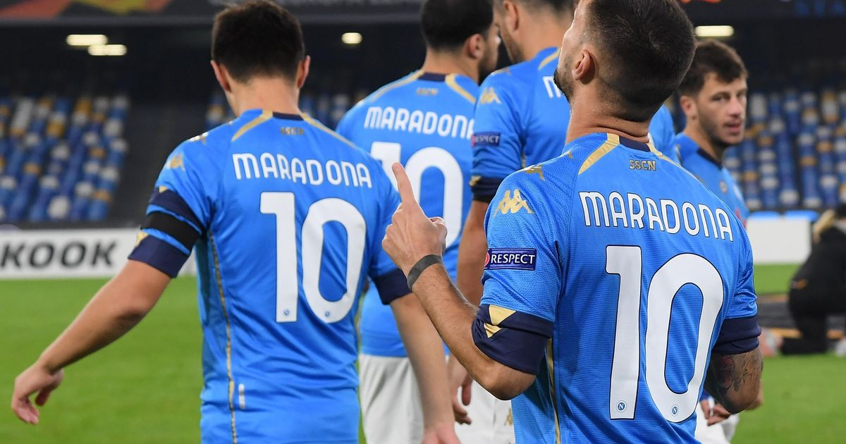 Napoli pay tribute to favourite son Maradona ahead of the Europa League tie