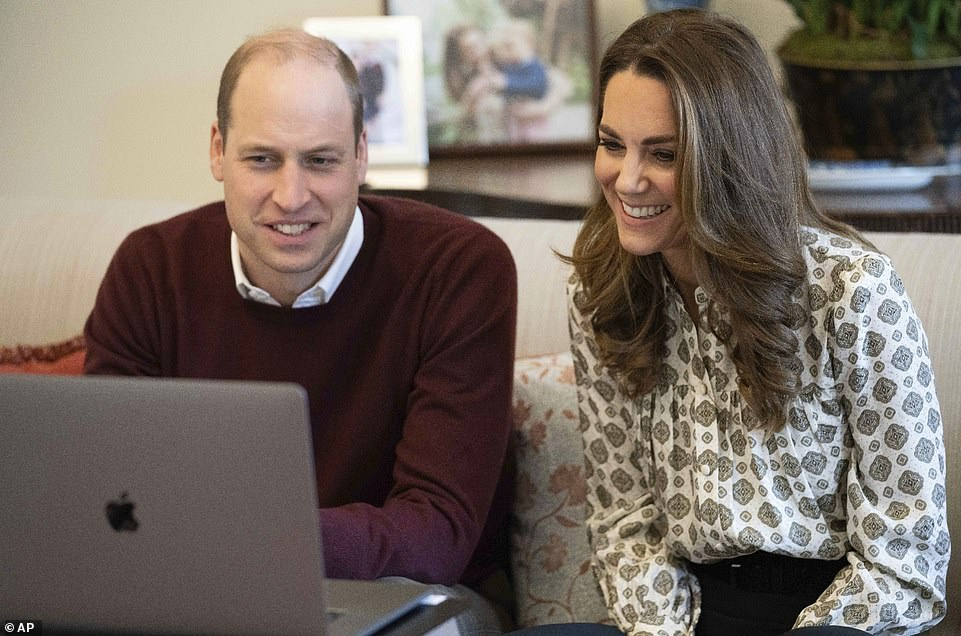 Prince William and the Duchess of Cambridge speak via video link with men to discuss their experiences of parenthood during lockdown earlier this month