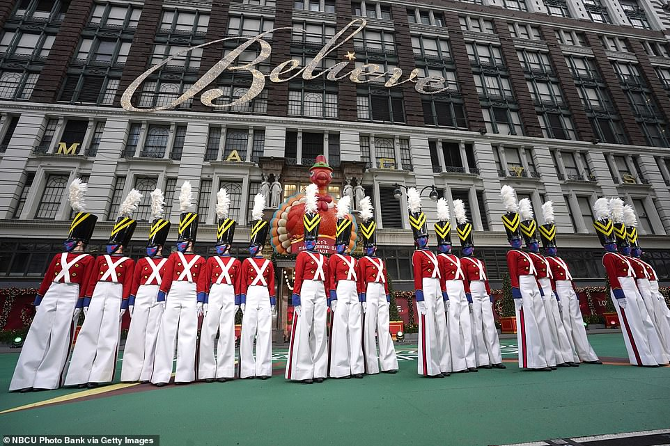 The legendary Rockettes, a staple of Macy's Thanksgiving Day Parade, also appeared to fail in their efforts to lift the nation's spirits