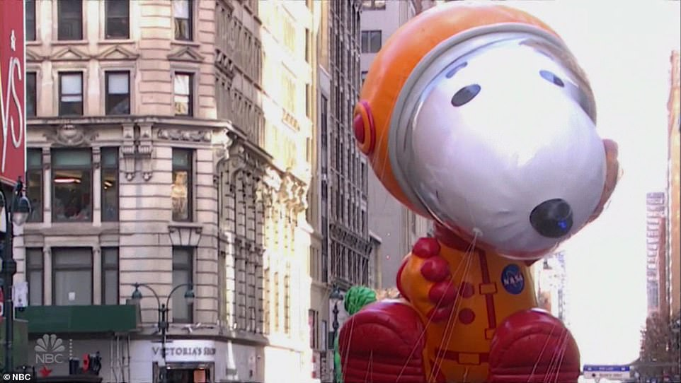 Snoopy was among the balloons that was kept in the restructured 2020 parade