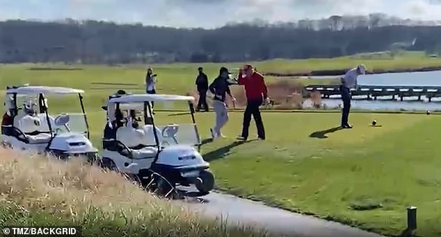 'I hate this f*****g hole,' Trump told his golfing partners on his Virginia course on Thursday