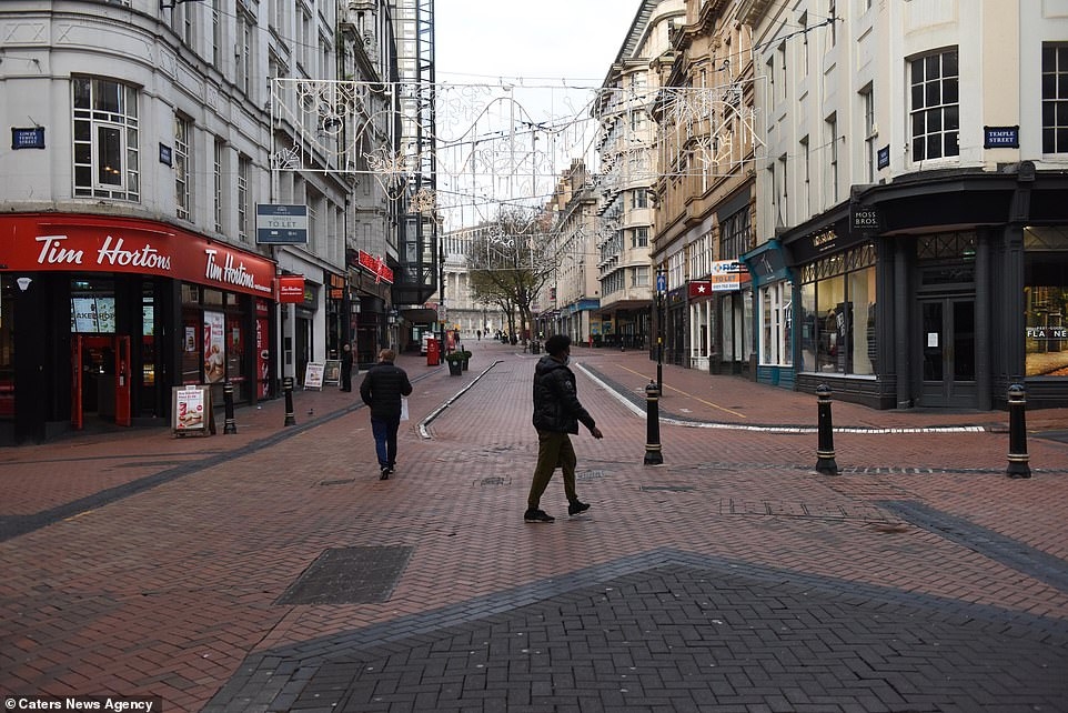 Shops are closed in the centre of Birmingham this morning with the high streets left deserted on Black Friday