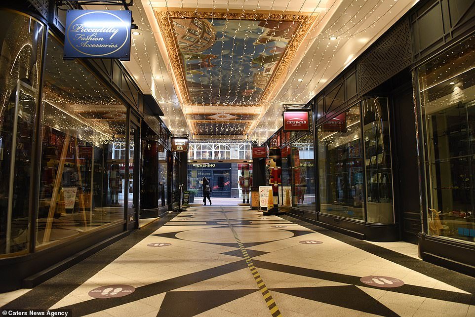 Shops are closed in the centre of Birmingham on Black Friday today during the second national lockdown for England