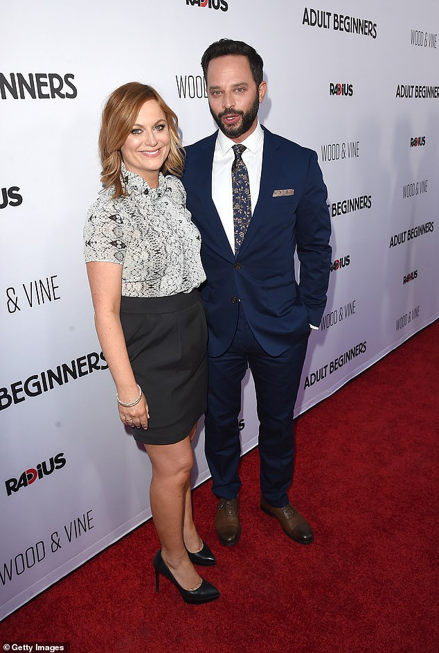 Exes: Prior to his marriage to Lily, Nick's most high-profile relationship was with comic actress Amy Poehler, whom he dated from 2013–2015; seen in 2015 in Hollywood