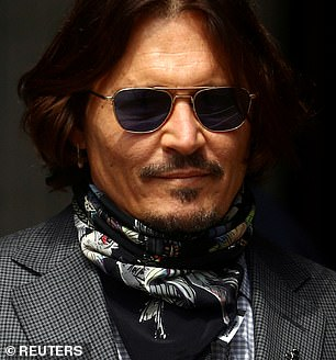 Pictured: Johnny Depp, 57, arriving to London's high court in July