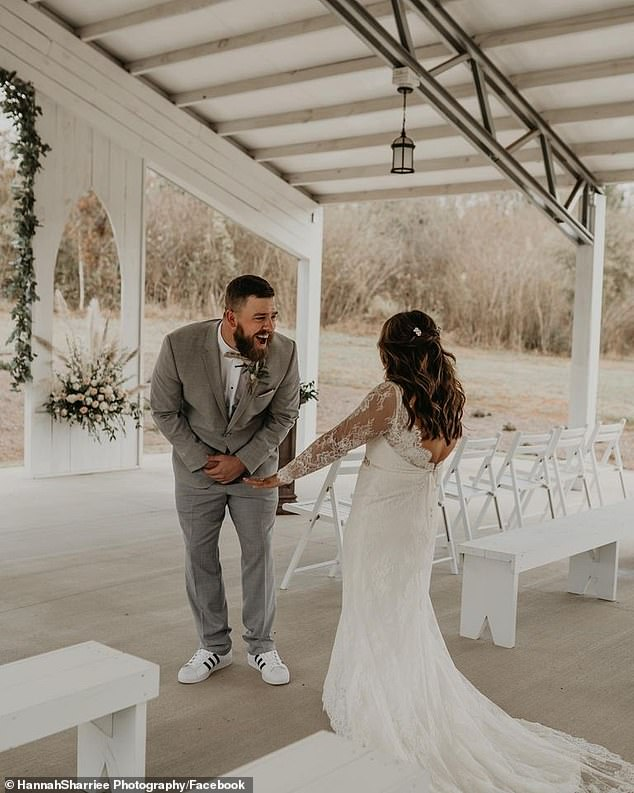 Sharriee, photographer, said they 'were filled with excitement for their future life together'