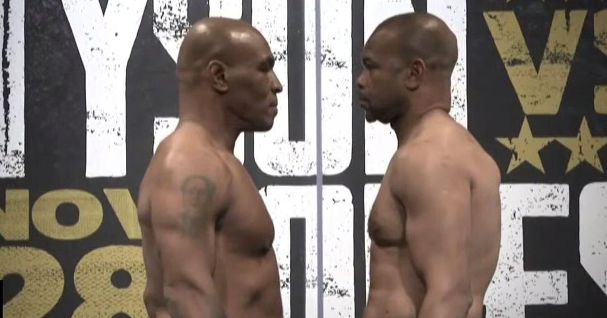 Mike Tyson weighs in at lightest for 23 years ahead of Roy Jones Jr fight