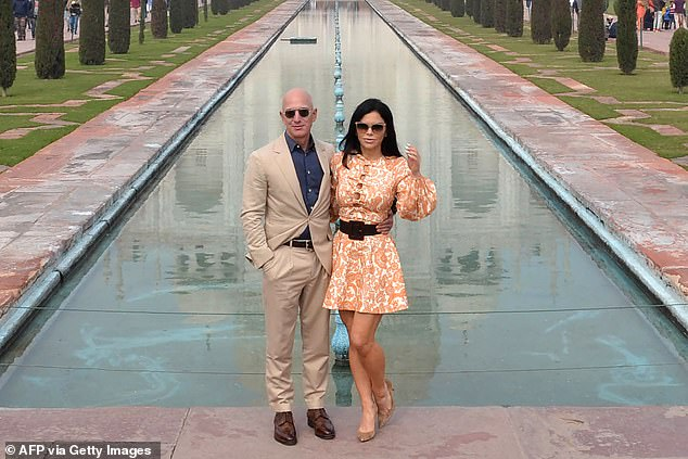 A bombshell report by the National Enquirer reported the relationship between Jeff Bezos (left) and Lauren Sanchez (right), who were both married at the time