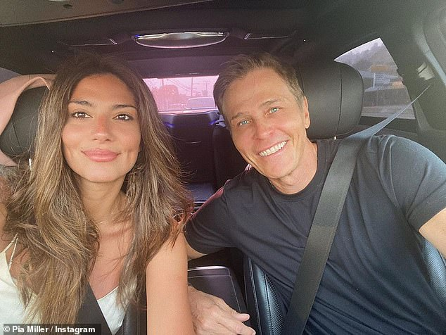 Patrick Whitesell (right) was first linked to Pia Miller in August 2019, around seven months after Lauren Sanchez's relationship with Jeff Bezos went public