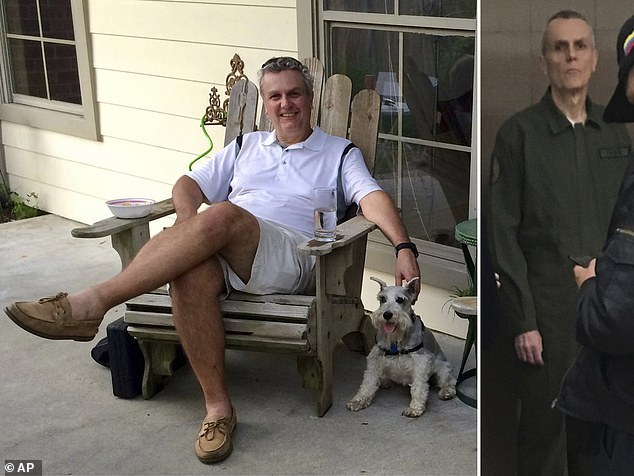 This shocking image showsCitgo executive Tomeu Vadell at his home in Lake Charles, Louisiana in 2015 (left) and in custody in Venezuela (right) - his family believe he has lost over 60 pounds since his arrest