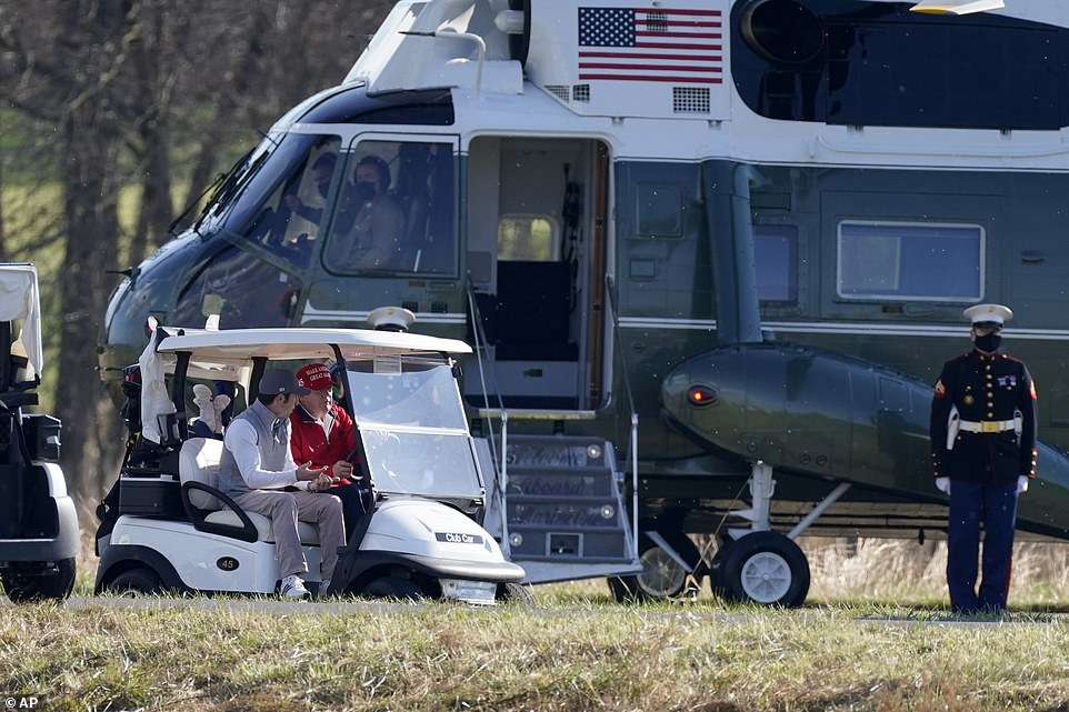 Trump had visited the Trump National Golf Club in Virginia just the day before