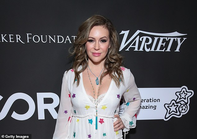 Actress Alyssa Milano's tweet, pictured, which urged women to speak up if they had been sexually assaulted sparked the Me Too Movement.