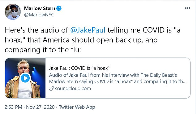 Covidiot: Paul is still facing backlash for calling COVID-19 a 'hoax' in his recent interview with The Daily Beast, from which he's since backtracked