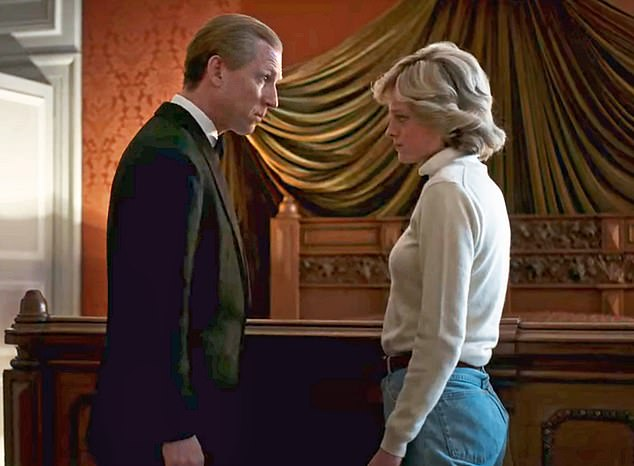 Fortunately the ceremony in February 2016 at the Palace was shortly before The Crown made its debut on Netflix (pictured: A scene from The Crown)