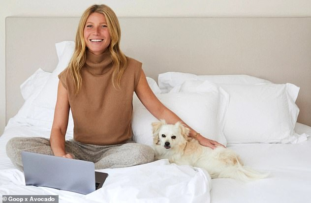 Actress turned health guru: Gwyneth is selling an eco-friendly and sustainable sourced handmade bed for £45,000