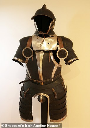 Other items for sale include metal suits of armour