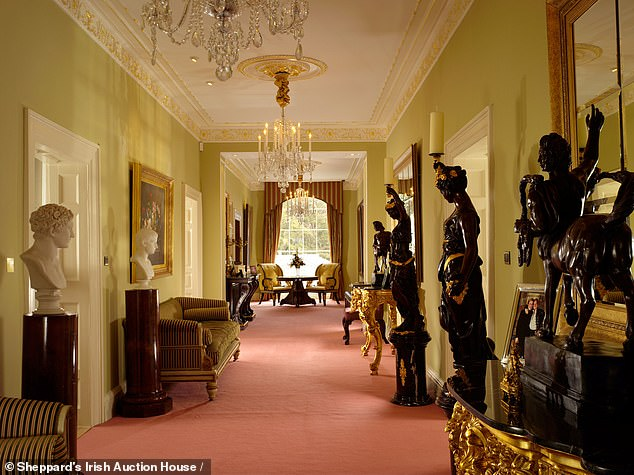 The star was rumoured to have spent over ¿30m renovating his County Cork estate (pictured)