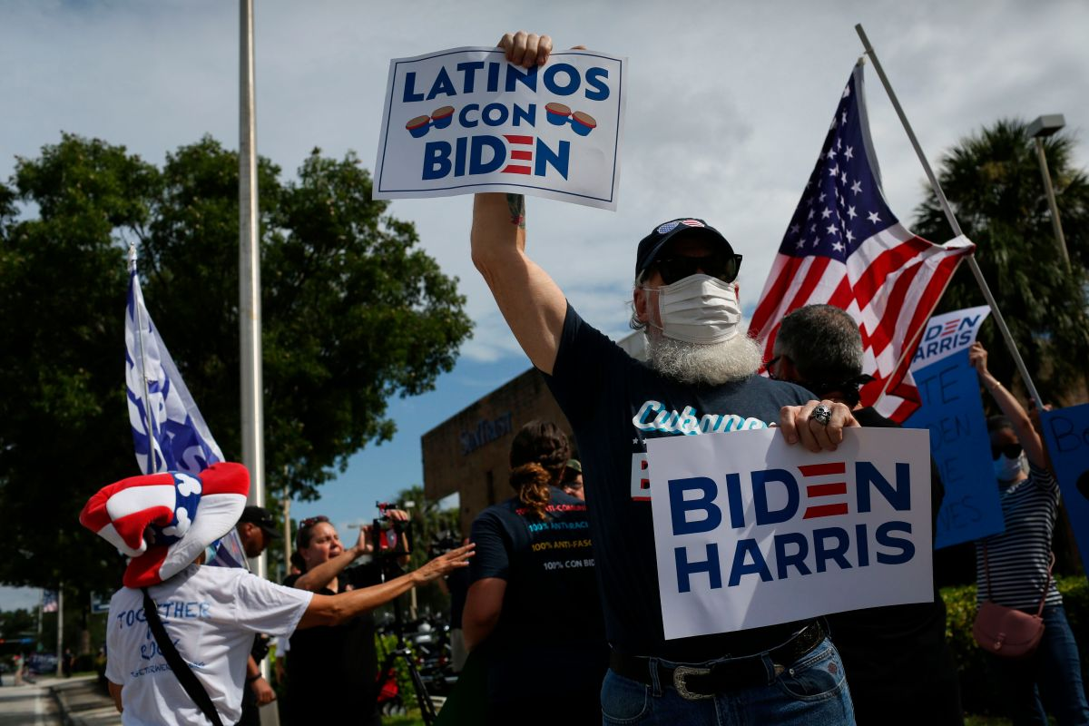 Activists highlight Latino vote for possible Biden win