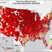 Alarming red wave map shows how widespread COVID-19 is across US