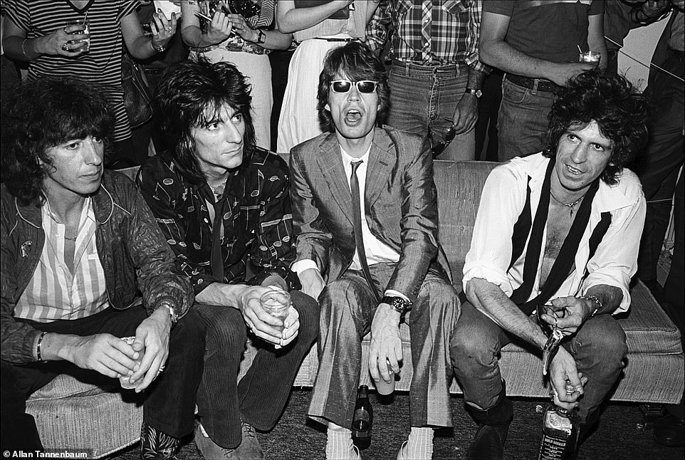 Allan Tannenbaum black and white images of the Stones, Ramones and Blondie in NYC in '70s and '80s