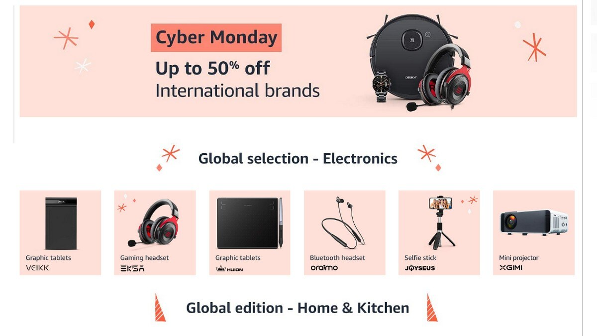 Amazon Cyber Monday Sale Brings Up to 50 Percent Off on International Brands