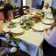 Americans celebrate a socially-distanced Thanksgiving