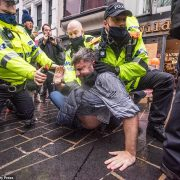Anti-lockdown protesters chanting 'freedom' clash with police