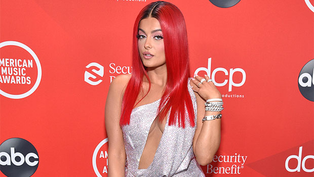 BebeRexha Stuns In Iridescent Cutout Gown Before Sexy AMAs Performance With Doja Cat