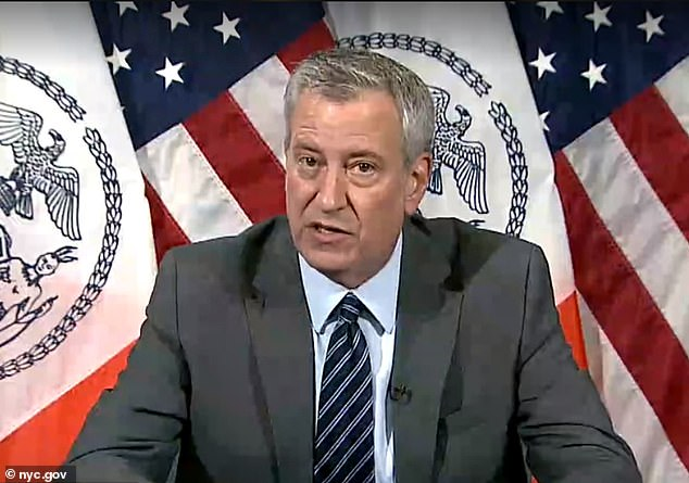 Bill de Blasio says lockdown restrictions are 'on table' as the NYC infection rate jumps to 2.34%