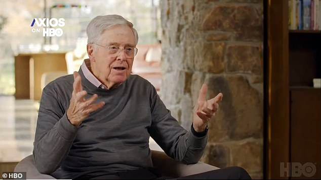 Billionaire Charles Koch 'horrified' by some Republicans he funded