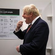Boris Johnson takes 'revolutionary' Covid test at Leicester lab
