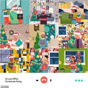 Can you spot the elves hiding in this virtual Christmas party call?